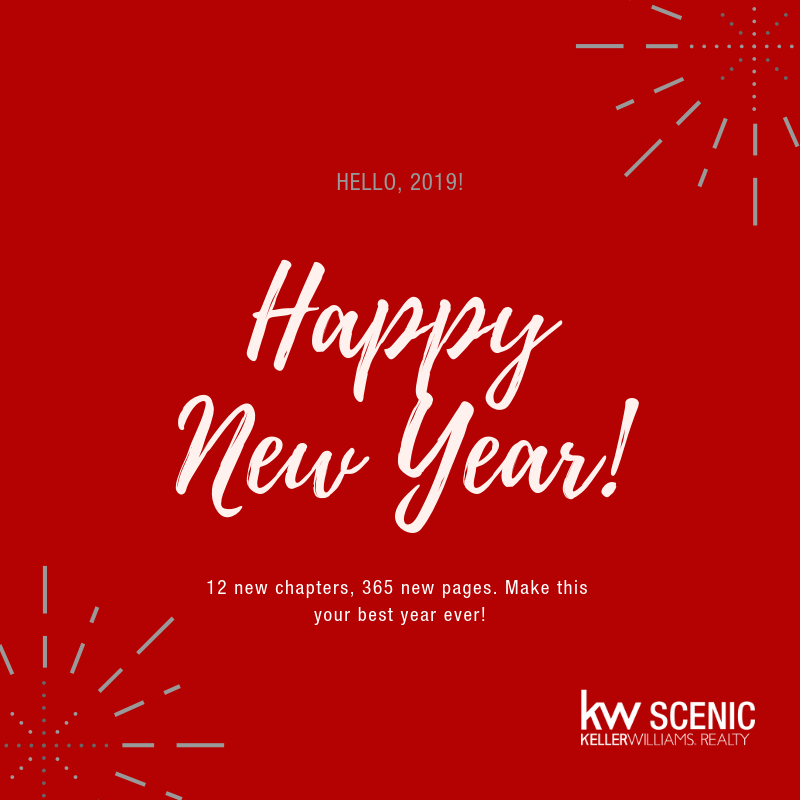 Image of Happy New Year 2019 wishes from the Keller Williams Eden Real Estate team in Hermanus in the Overstrand region.